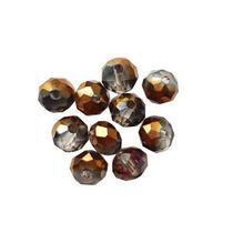 Бусины чешский хрусталь, цвет серый с бронзовым напылением №81