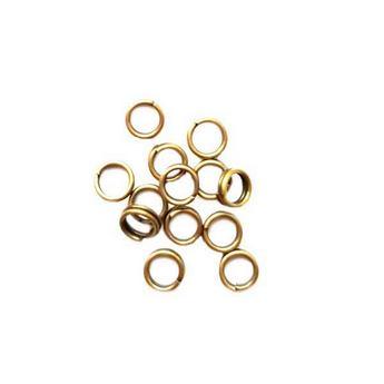 Соединительные кольца двойные, цвет  бронза 0,4 см