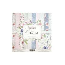 """Набор двусторонней бумаги 20х20 см """"Tender Orchid"""", 200г/м2, 10шт"""