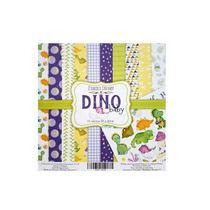"Набор двусторонней бумаги 20х20 см ""DINO baby"", 200г/м2, 10шт"