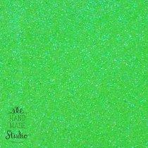 Клеевой фоамиран с глиттером, цвет салатовый 2 мм. 20х30 см