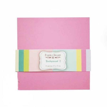 "Набор двухсторонней фоновой бумаги 15х15 см ""Sweet baby Girl"" 8шт"