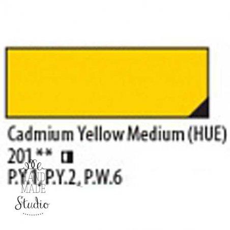 Масляная краска Ладога №302 Кадмий  желтый средний, 46 мл
