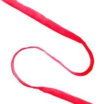 Атласная лента с бархатом 1 см., цвет красный