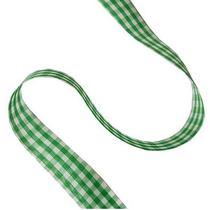 Лента тканевая Клетка 2,3 см, цвет зеленый
