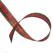 Лента тканевая с люрексом 1,8 см Шотландка №3