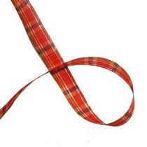 Лента тканевая с люрексом 1,8 см Шотландка №2