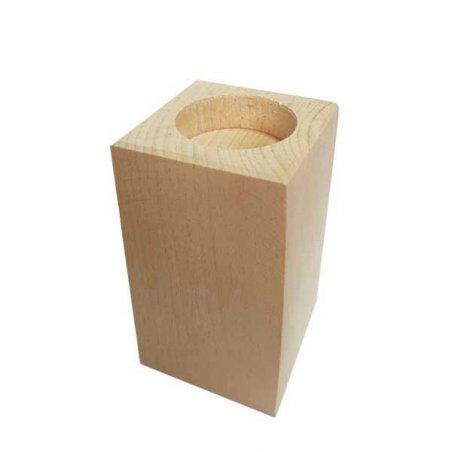 Подсвечник деревянный 10,5 см