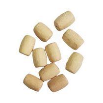 Деревянные бусины-бочонки, 15х8 мм