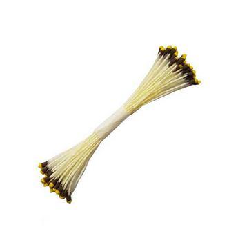 №6 Цветочные тычинки желтые, с коричнево-желтыми концами