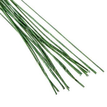 Проволока для стволов в тейп-ленте зеленая 24х12  (10 штук)
