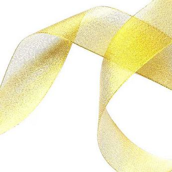 Лента-парча, цвет золото 2,5 см