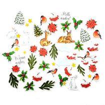 """Набор высечек для скрапбукинга """" Smile of Winter""""FDSCD-04020, 52 шт"""
