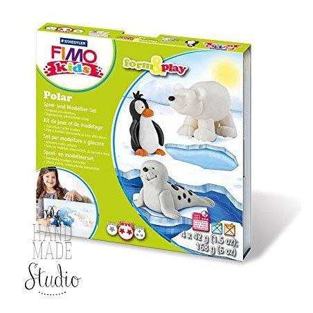 """Набор полимерной глины FIMO Kids Form & Play """"Полярные животные"""" 8034 15"""