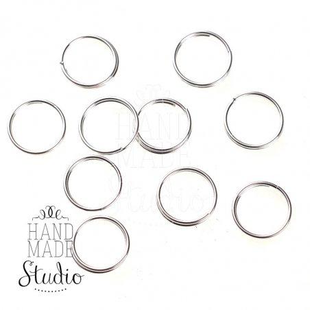 Соединительные кольца двойные, посеребренные 1 см (10 шт.)