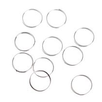 Соединительный кольца двойные, посеребренные 2 см