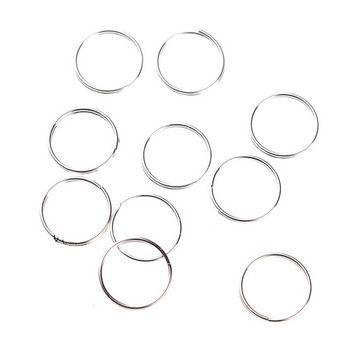Соединительные кольца двойные, посеребренные 1,2 см (10 шт.)