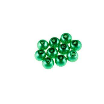№15 Бусины под жемчуг стеклянные, цвет зеленый, 8 мм,