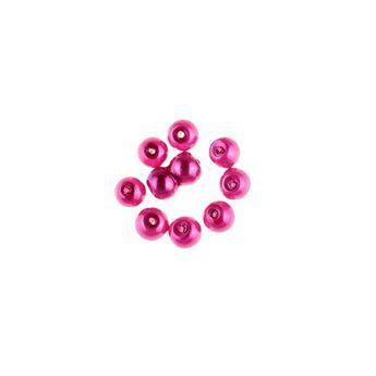 №10 Бусины под жемчуг стеклянные, цвет малиновый, 6 мм,