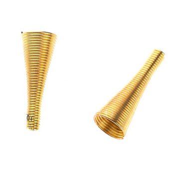 №21  Обниматели для бусин пружинка, цвет - золото