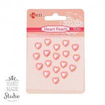 Набор сердечек на клеевой основе, цвет розовый