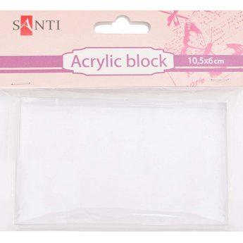 Акриловый блок для штампов Santi 10,5х6 см