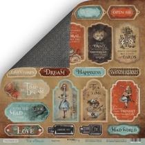 Лист двусторонней бумаги 30x30 от Scrapmir Карточки из коллекции Time to Dream (eng.),190г/м2, 1шт