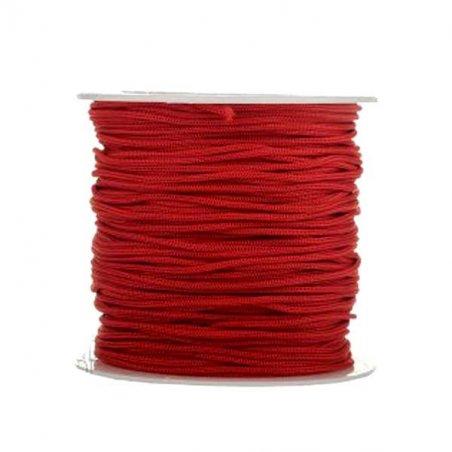 Нить бижутерная 1 мм, цвет красный