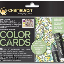 Склейка-раскраска Chameleon Color Cards - Floral Patterns