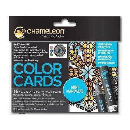 Склейка-розмальовка Chameleon Color Cards - Mini Mandalas