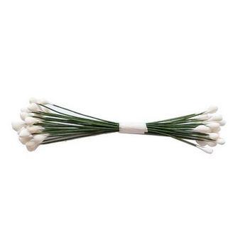 №46 Цветочные тычинки зеленые с белыми концами