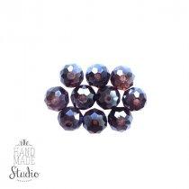 Бусины чешский хрусталь 6 мм, цвет пурпурный №92