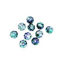 Бусины чешский хрусталь 8 мм, цвет сине-зеленый №102