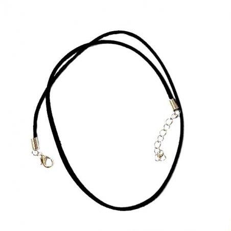 Замшевий шнурок, колір - чорний (45 см)