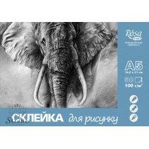 Склейка для рисунков Rosa Studio, А-5, 100 г/м2, 50 листов
