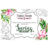 Набор открыток для раскрашивания маркерами Spring BLOSSOM,8 шт.