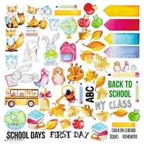 """Лист односторонней бумаги """"Cool School"""", 30,5x30,5 см, 200г/м2, 1 лист"""