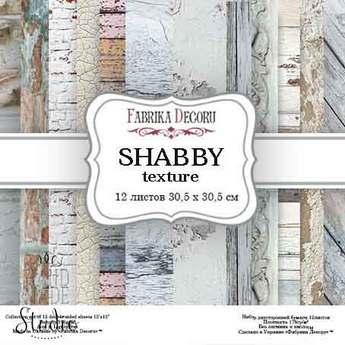 """Набор двухсторонней фоновой бумаги 30,5х30,5 см """"SHABBY""""12 листов"""