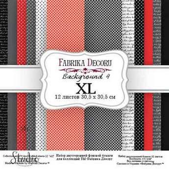 """Набор двухсторонней фоновой бумаги 30х30 см """"Background №4 XL""""12 листов"""