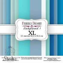 """Набор двусторонней фоновой бумаги 30,5х30,5 см """"Background №1 XL""""12 листов"""