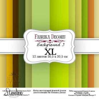 """Набор двухсторонней фоновой бумаги 30,5х30,5 см """"Background №3 XL""""12 листов"""