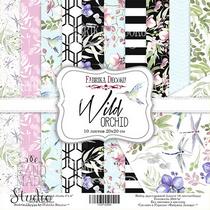 "Набор двусторонней бумаги 20х20 см ""Wild Orchid"" 10шт"