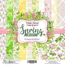 """Набор двусторонней бумаги 30,5х30,5 см """"Spring BLOSSOM"""",  200г/м2, 10шт"""