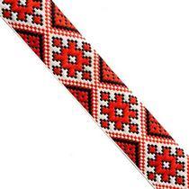 Лента (тесьма) декоративная с узором  3 см, Украинский орнамент №2, 1м