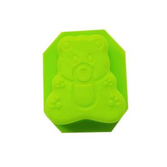 Силиконовая форма для мыла Мишка №1