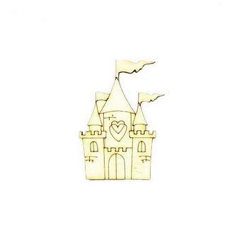 Деревянная заготовка Сказочный замок, 4,5х5,7 см