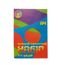 Набор микс из бумаги и картона 7+7 листов, А4