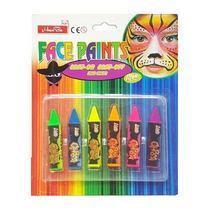 Набор мелков для лица Body Art Neon, 6 цв.