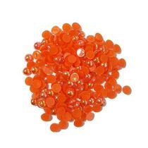 Пластиковые полубусины, оранжевый  перламутр, 0,6 см