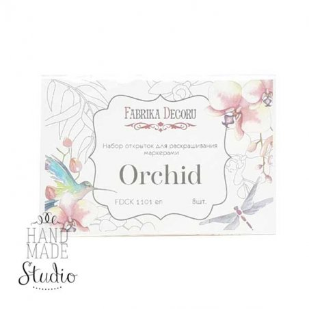 Набор открыток для раскрашивания маркерами Orchid,8 шт.